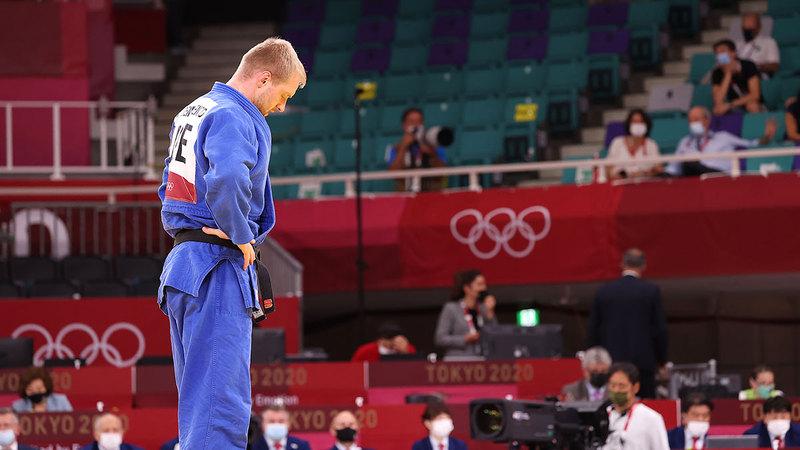 لاعب المنتخب الوطني للجودو إيفان رومارينكو ودّع «أولمبياد طوكيو» من الدور الأول.  من المصدر