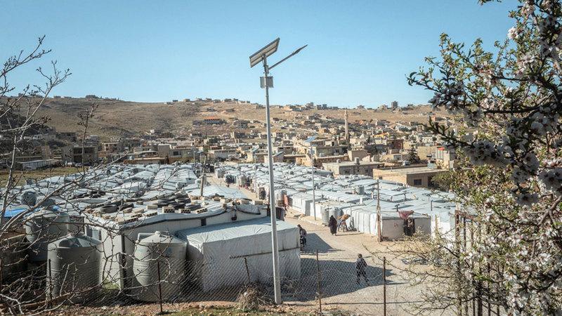 مخيم عرسال الذي تعمل فيه منظمة «أطباء بلا حدود»  من المصدر