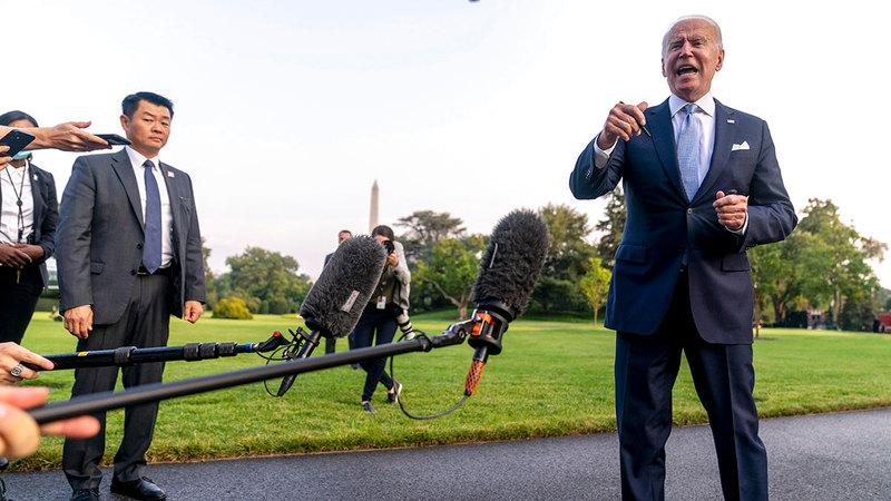 بايدن يواجه مشكلات لا قبل له على حلها ما لم تتغير سياسة واشنطن. رويترز