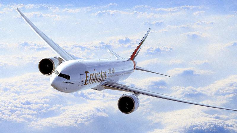 «طيران الإمارات» ستخدم رحلاتها إلى غلاسكو باستخدام «بوينغ 777-200LR».  من المصدر