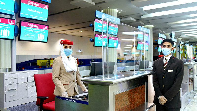 «طيران الإمارات» تعكف على إعادة بناء شبكتها العالمية تدريجياً بأمان واستدامة.  أرشيفية