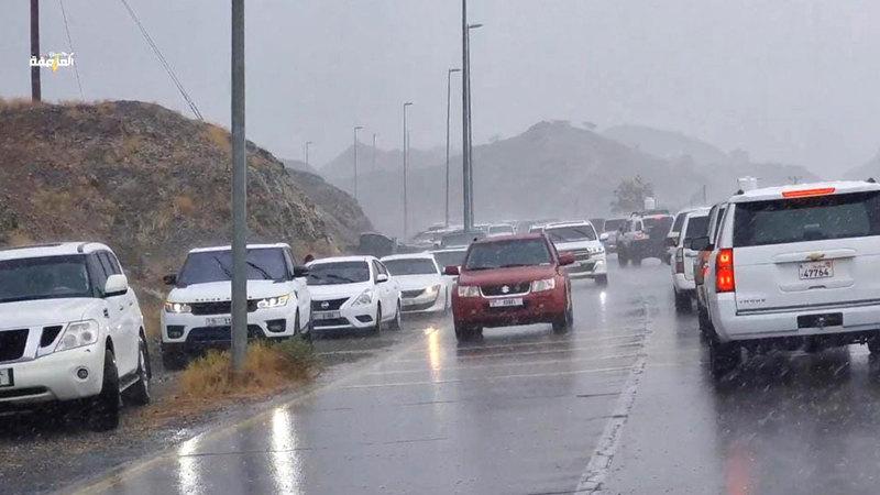 الحالة الجوية ستستمر خلال الأيام المقبلة.  الإمارات اليوم