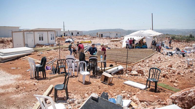 مستوطنة أفيتار غير الشرعية وافق المستوطنون على مغادرتها ولكنهم سيرجعون إليها إذا تملكتها إسرائيل.  أرشيفية