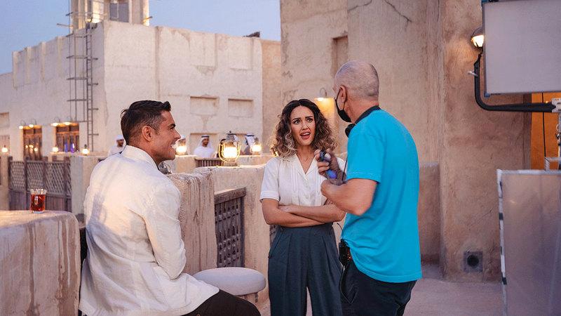 النجمان ظهرا أمام عدد من معالم دبي الشهيرة ضمن حملة لـ Visit Dubai. أرشيفية
