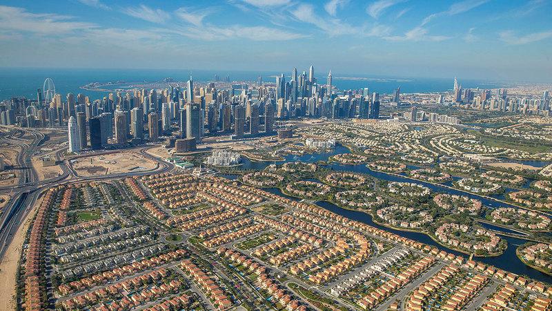 عقارات دبي تقدم حالياً عائداً يبلغ في المتوسط 7%.  أرشيفية