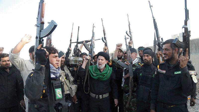 إيران تواصل توسيع نفوذها في العراق من خلال الميليشيات الشيعية الموجودة فيه.    أ.ب