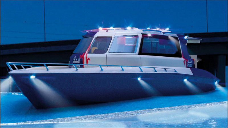 القارب الجديد يتميّز بتجهيزات طبية ذات مواصفات عالمية.   من المصدر