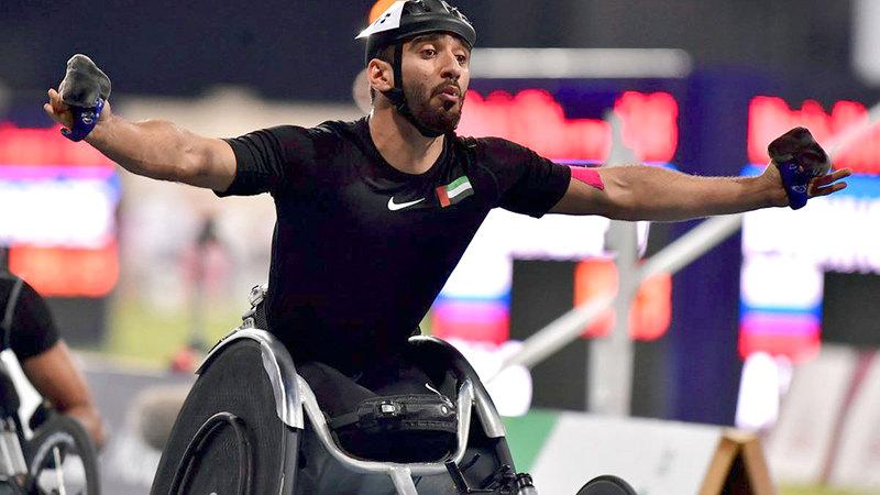 محمد القايد يتقدم منتخب ألعاب القوى في «بارالمبية طوكيو 2020».   من المصدر