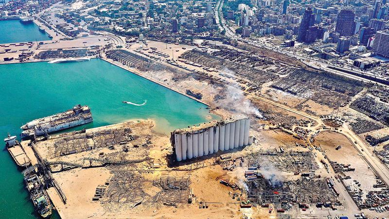 انفجار مرفأ بيروت كشف العجز الكامل للنخبة السياسية.  أرشيفية