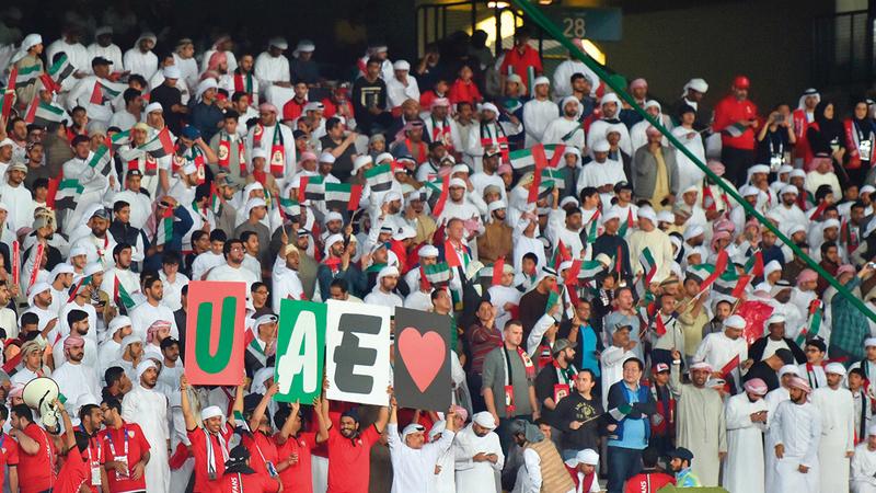 الجمهور سيعود إلى الحضور في المدرجات بنسبة 60% من سعة الملاعب.  الإمارات اليوم