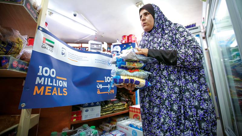 207 آلاف شخص في غزة استفادوا من الاحتياجات الغذائية الطارئة.  من المصدر