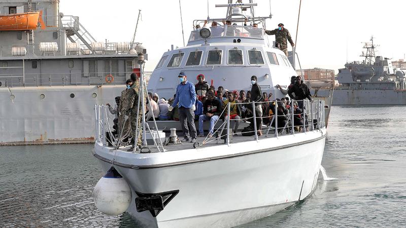 سفن الهجرة عاودت نشاطها مجدداً بعد الهدوء النسبي الذي شهدته ليبيا.  أ.ف.ب