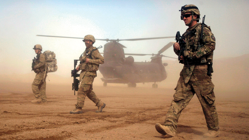 جنود أميركيون ضمن التحالف الدولي الذي قادته واشنطن واستولى على كابول قبل نحو 20 عاماً.  أ.ب