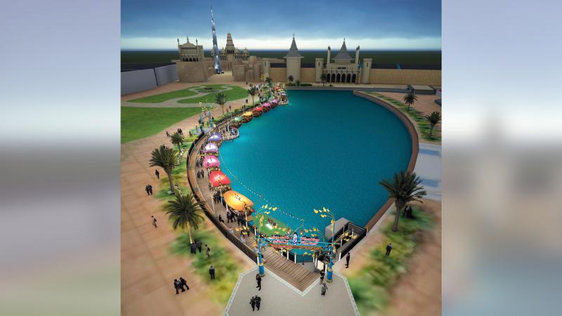 «السوق العائم» سينقل إلى موقعه الجديد على ضفاف البحيرة في قلب القرية العالمية.  من المصدر