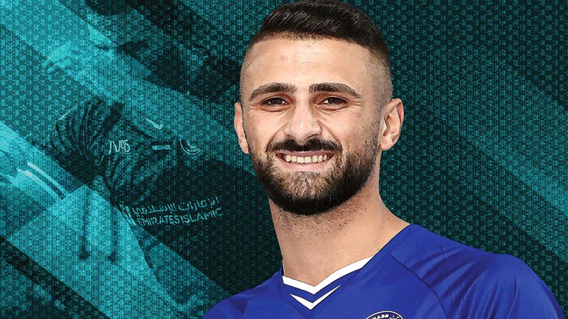 الإسرائيلي عبدالله حليل بقميص النصر.  من المصدر