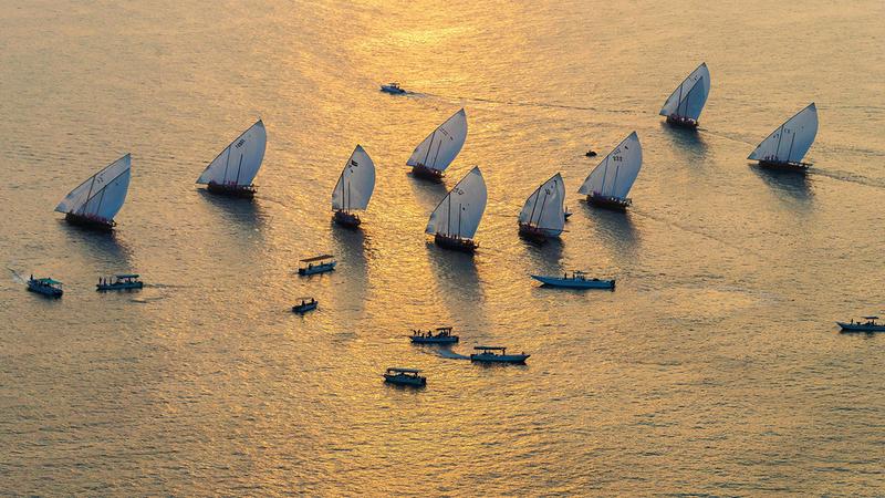 البحر جزء رئيس من هوية الإمارات وتراثها الأصيل.  أرشيفية