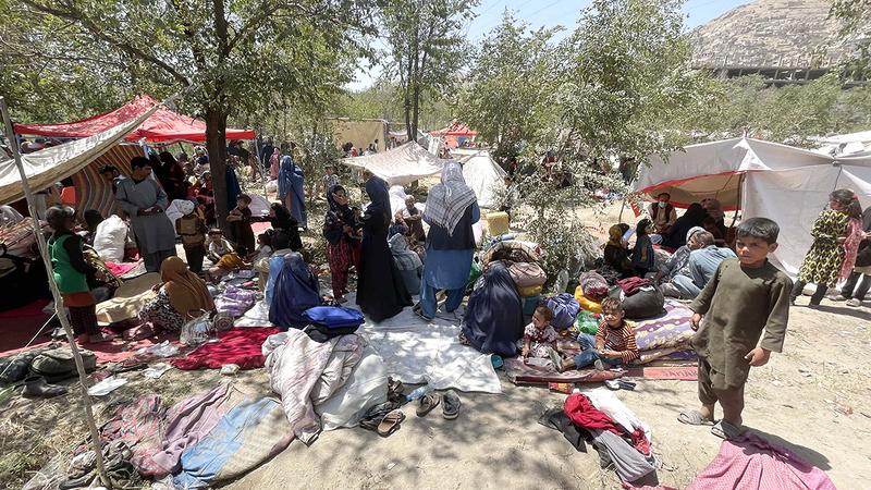 المهاجرون الأفغان يفترشون الأرض في شرق تركيا.  أرشيفية
