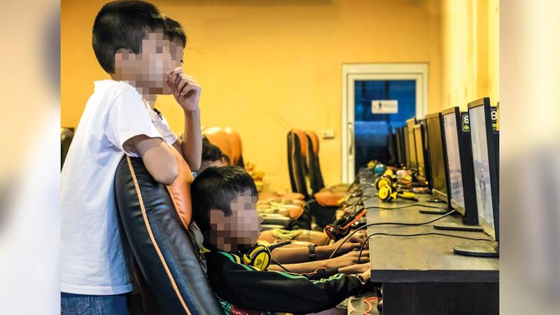 شرطة أبوظبي حذرت من خطورة الألعاب الإلكترونية على الأطفال.  أرشيفية