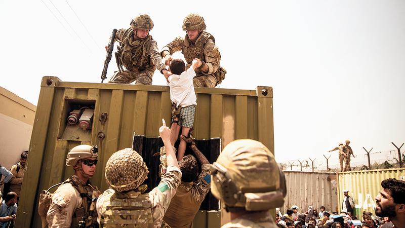 قرار سحب القوات الأميركية من أفغانستان أغضب الشركاء الأوروبيين.  أ.ب