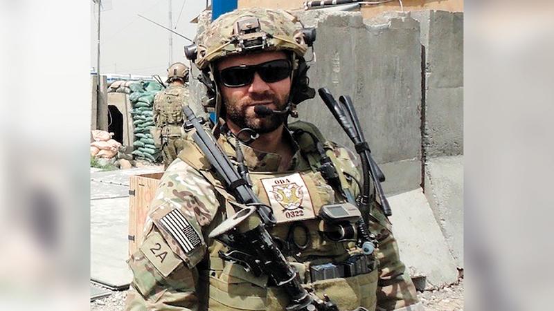 أحد عناصر القوات الأميركية في أفغانستان حيث يفترض أن يكتمل انسحابها بعد أسبوع من الآن.   أ.ب