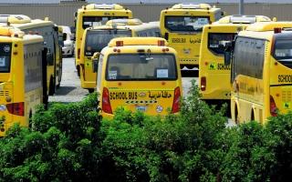 الصورة: زيادة الطاقة الاستيعابية للحافلات المدرسية في دبي إلى 100%