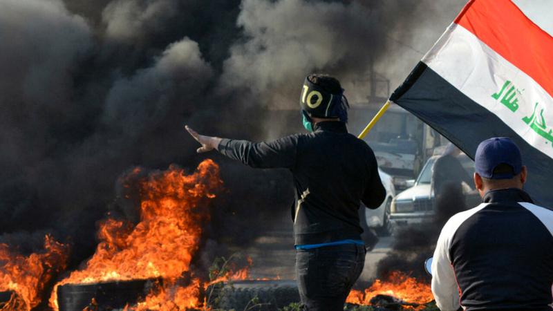 الاحتجاجات الشعبية في العراق قد تكبح نفوذ الميليشيات.   غيتي
