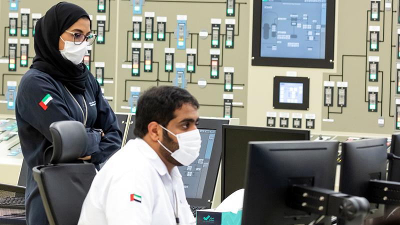 نسبة تمثيل المرأة الإماراتية في القطاع النووي بالإمارات تصل إلى 20% من إجمالي القوى العاملة.  من المصدر