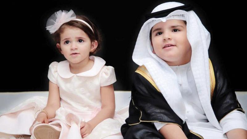 الغنيمي استفاد من اسمي طفليه «حمدان» و«ميرة» ومن النجومية الواسعة التي حققاها معاً على المنصات الرقمية.   من المصدر