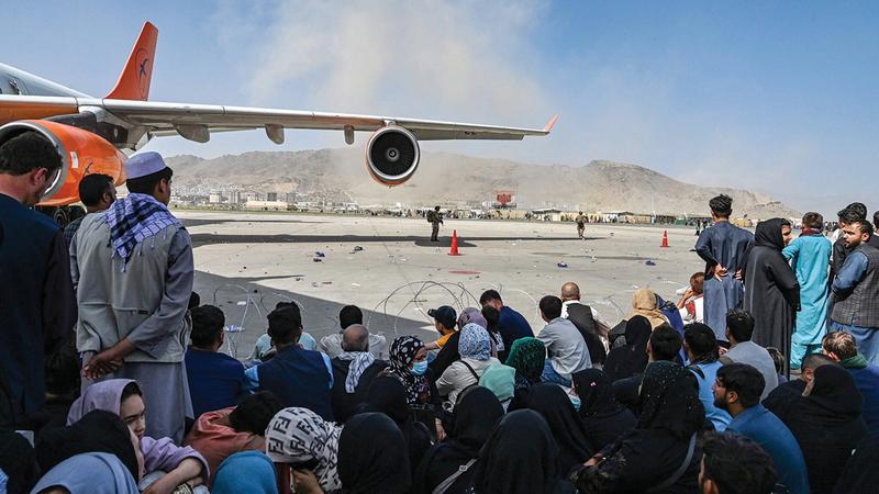 مطار كابول شهد فوضى كبيرة بعد دخول «طالبان» العاصمة.  من المصدر