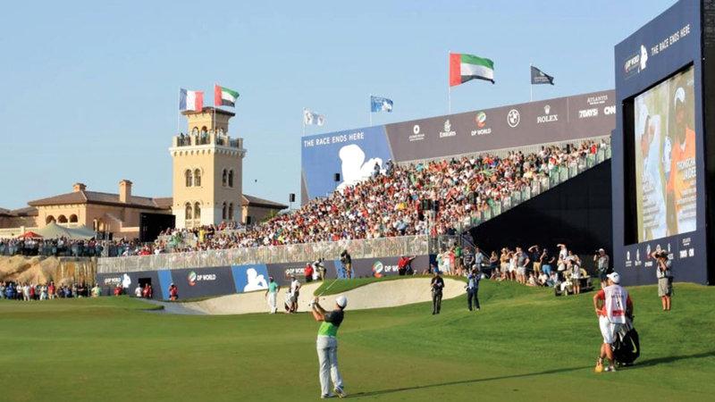 يتم تنظيم أكثر من 400 فعالية رياضية سنوياً في دبي.  من المصدر