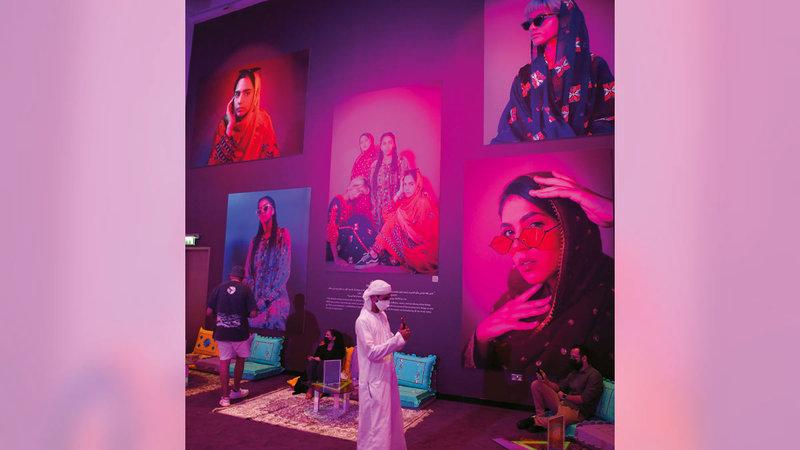 أعمال المعرض تركز على التصوير الفوتوغرافي.  تصوير: إريك أرازاس