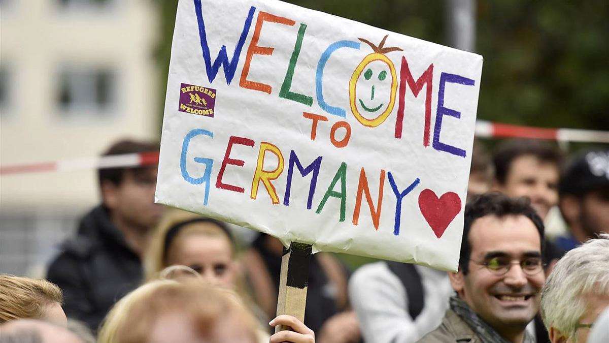 لاجئون سوريون استُقبلوا في ألمانيا بحفاوة. أرشيفية