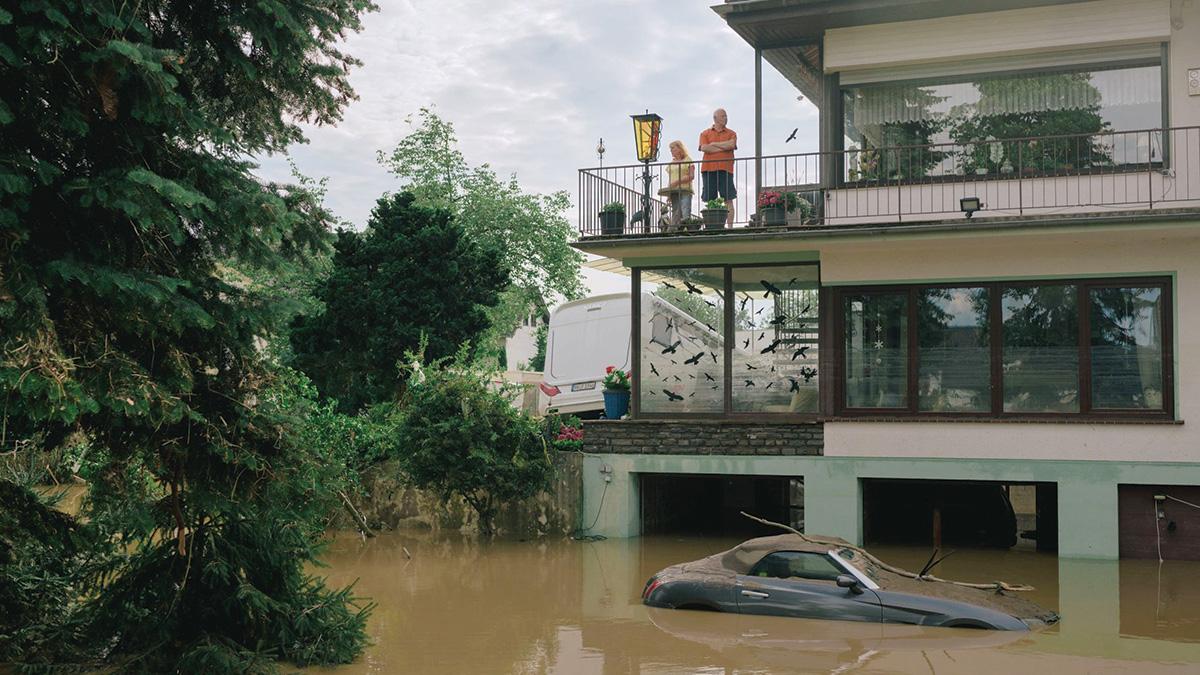 أعنف فيضانات تجتاح ألمانيا بسبب التغيير المناخي. . من المصدر