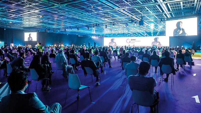 «دبي التجاري العالمي» استضاف فعاليات متخصصة جمعت بين الحضور الفعلي والافتراضي.  من المصدر