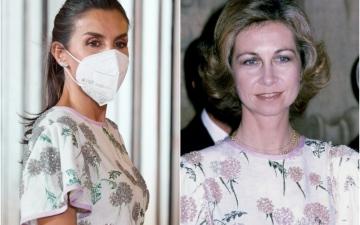 الصورة: ملكة إسبانيا ترتدي فستانا ارتدته حماتها قبل 40 عاماً