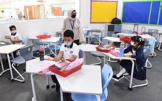 الصورة: 10 أعراض تمنع دخول الطلبة المبنى المدرسي في أبوظبي