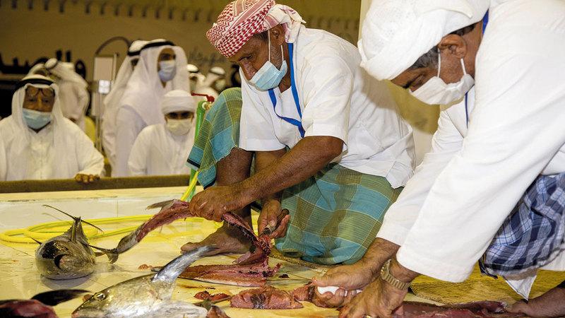 المهرجان يعرف بمهن عريقة في الإمارات.   من المصدر