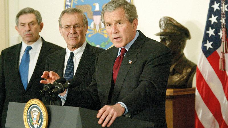 بوش أعلن حرباً دامت 20 عاماً.   أرشيفية