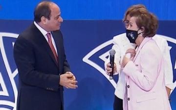 الصورة: ممثلة الأمم المتحدة في مصر تفاجئ السيسي بطلب غريب