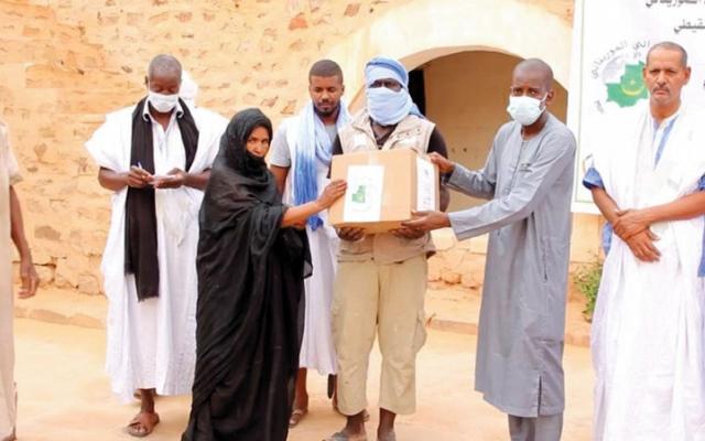 الصورة: توزيع 4.5 ملايين وجبة في موريتانيا
