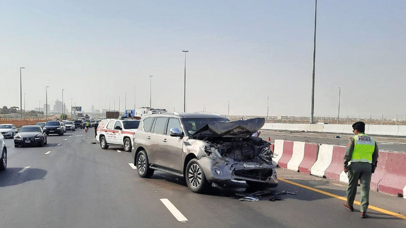 حوادث مرورية وقعت بسبب التجاوز غير المحسوب.    أرشيفية