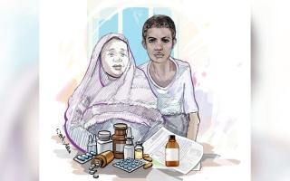 الصورة: «أحمد» يحتاج إلى أدوية بـ 19 ألف درهم لإنقاذ حياته