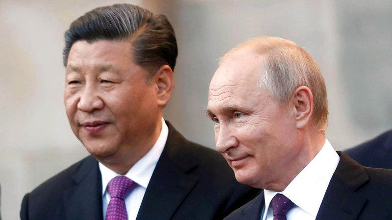 خلال الاتصال بين الرئيسين بوتين وجينبينغ فهمت بكين أن روسيا تؤيد موقفها في بحر الصين الجنوبي وقضية تايوان.  أ.ف.ب