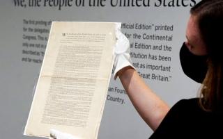 الصورة: الدستور الأميركي للبيع في المزاد بـ 15 مليون دولار