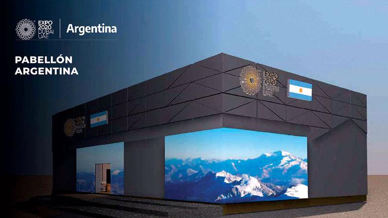 الجناح يمتد على مساحة 315 متراً مربعاً لنقل الإمكانات الكاملة للأرجنتين.  من المصدر