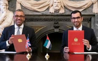 الصورة: اتفاقية لتعزيز التعاون المناخي والبيئي بين الإمارات والمملكة المتحدة