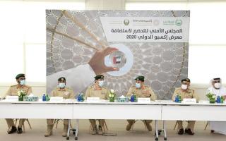 الصورة: شرطة دبي تناقش الاستعدادات الأمنية لافتتاح «إكسبو 2020»