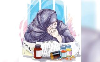 الصورة: «أم حمد» تحتاج إلى 13.2 ألف درهم لتجديد بطاقة التأمين الصحي