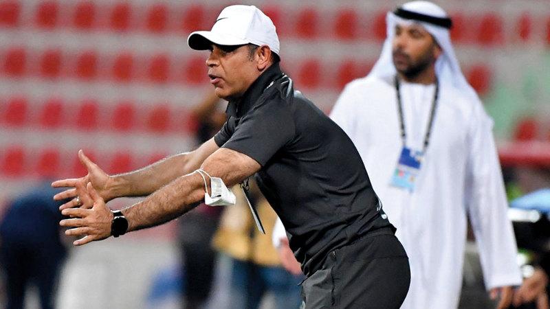 مهدي علي تغلب على العنبري للمرة الثالثة على التوالي. تصوير: أسامة أبوغانم