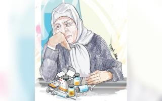 الصورة: متبرع يتكفل بتجديد بطاقة التأمين الصحي لـ «أم حمد»